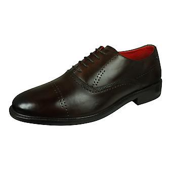 Base London Lyric Mens Leather Shoes - Brown