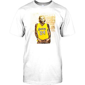 Marilyn Monroe With Tattoos - Lakers Basketball Inspired Mens T Shirt