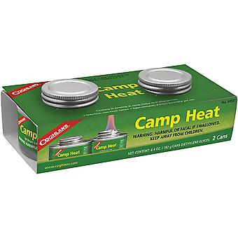 Coghlan-apos;s Camp Heat Emergency Cooking Fuel Can (2 Pack), Recloseable 4-6 h Burn