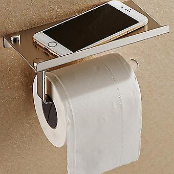 Badezimmer Toilettenpapier - Halter Schwarz Wand Mountedtissue Rack Edelstahl