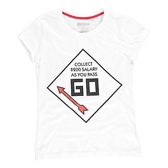 Hasbro Monopoly GO T-Shirt männlich Medium Weiß (TS511173HSB-M)