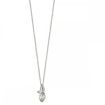 Elements Silver Silver And Navette Crystal Swarovski Leafs Pendant P4680C