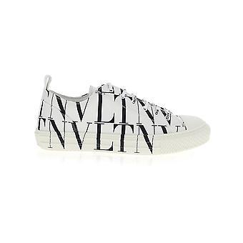 Valentino Garavani Uy0s0d57jkya01 Heren's Wit/zwart Leren Sneakers