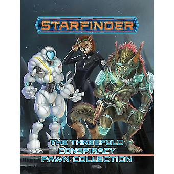 Starfinder Pawns The Threefold Conspiracy Pawn Collection by Staff & Paizo