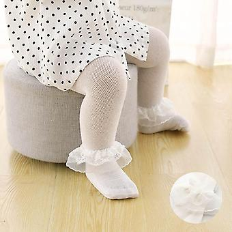 Soft Cotton Baby Girl Tights- Summer Kids Pantyhose Lace Flower Baby Tights