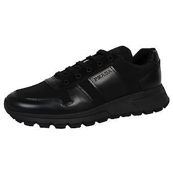 Prada men's black calzature uomo sneakers