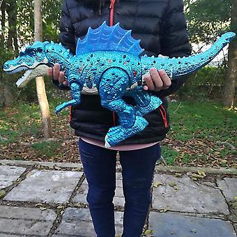Rc ديناصور الحجم الكبير 51cm الحياة البرية الكهربائية المشي والصوت Dinobot اللعبة -