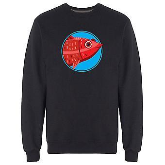 Happy Red Fish Sweatshirt Men's -Image by Shutterstock