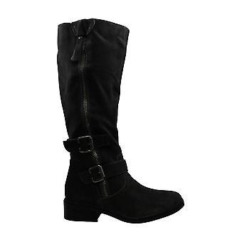 أمريكا خرقة Women & apos;ق الأحذية كولينز جلد الغزال اللوز توب الركبة أحذية أزياء عالية