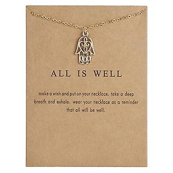 All is well - necklace 18K gold plated gift