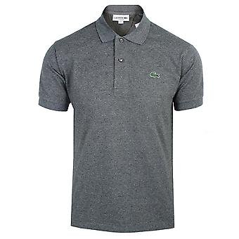 Lacoste men's charcoal marl polo shirt