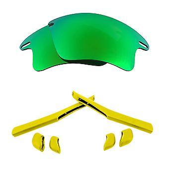 Polarized Replacement Lenses Kit for Oakley Fast Jacket XL Green Mirror Yellow Anti-Scratch Anti-Glare UV400 SeekOptics