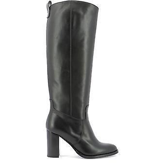 Guglielmo Rotta 3955ccalfnero Women's Black Leather Boots