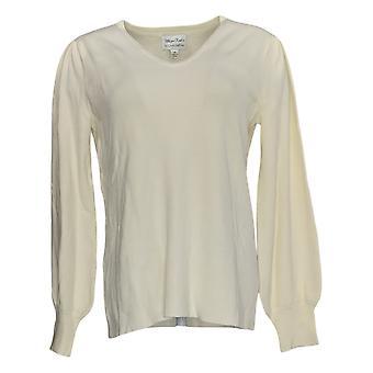 Linea Por Louis Dell'Olio Women's Sweater Whisper Knit Ivory A385149