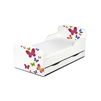 PriceRightHome Butterflies Toddler Bed with Underbed Storage and Fibre