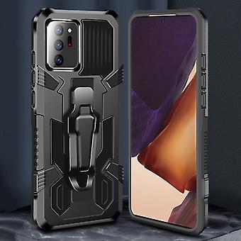 עבור סמסונג גלקסי Note20 מכונת שריון לוחם Shockproof PC + מגן TPU (אדום)
