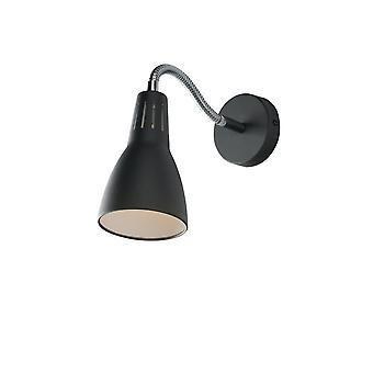 Fan Europe Luce_Ambiente_Design - Lampe de tâches murale réglable, Noir, E14