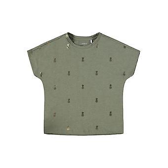 Name-it Mädchen Tshirt Tykki tief Lichen grün