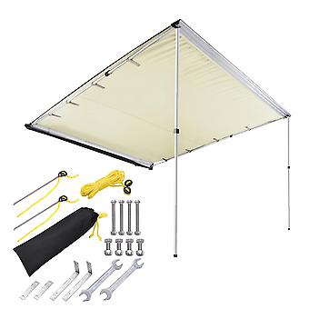 Yescom 7.6'x8.2' Car Side Awning Rooftop Pull Out Tent Shelter PU2000mm UV50+ Shade SUV Outdoor Camping Travel Beige