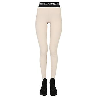 Hinterhalt Bmca009f20fab0016100 Frauen's Beige Nylon Leggings