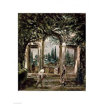 The Gardens of the Villa Medici in Rome Poster Print by Diego Velazquez