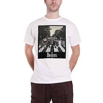 Beatles T skjorte Abbey Road Album Cover for bandets Logo nye offisielle Mens White