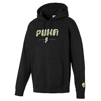 Puma Pop Styl Męski bluza z kapturem z długim rękawem Grafika Haftowany Sweter 596849 01
