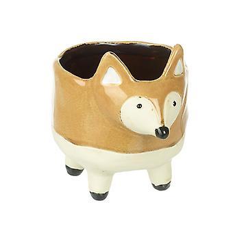 Ceramic Fox Planter With Feet 15.5cm