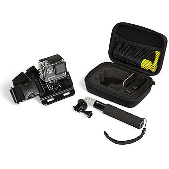Kitvision actie camera accessoire kit inclusief reiskoffer, borststeun en kleine verlengpaal co