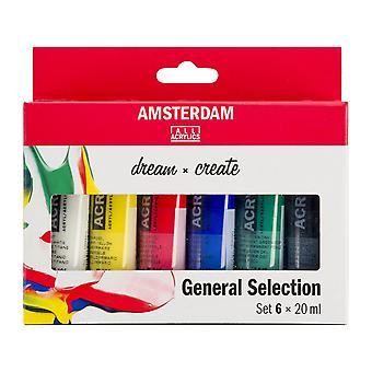 Amsterdam Acrylic Paint General Selection Set 6 x 20ml