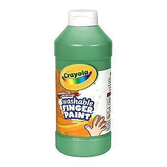 Pintura de dedo lavable Crayola, verde, 16 oz