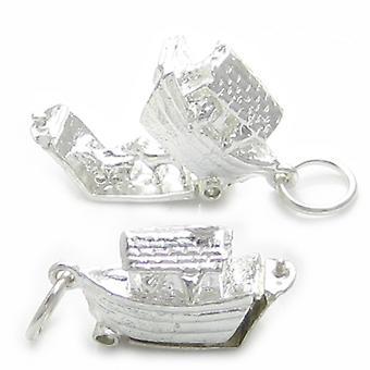 Noahs Ark öppnar Sterling Silver Charm .925 X 1 Bibelberättelse Charms - 4469