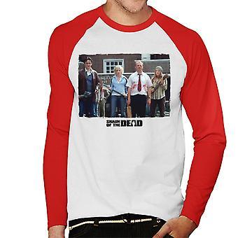 Shaun of the Dead Liz Holding Hockey Stick Men's Baseball Long Sleeved T-Shirt