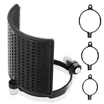 Microphone Pop Filter Shield Filter Screen Metal Mesh Three Layer Pare-brise