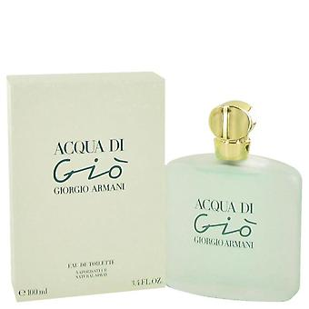 Acqua Di Gio Eau De Toilette Spray By Giorgio Armani 3.3 oz Eau De Toilette Spray