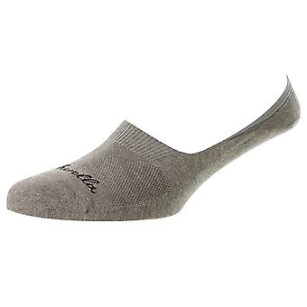 Pantherella Stride Invisible Cushion Sole Socks - Light Grey Mix