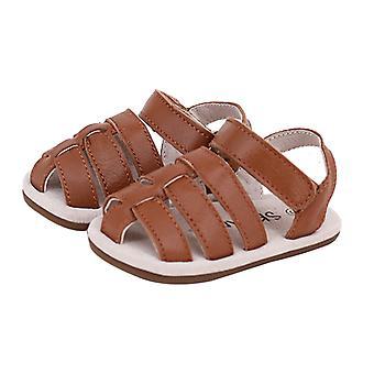 SKEANIE Ziggie Leather Pre-walker Sandals in Tan