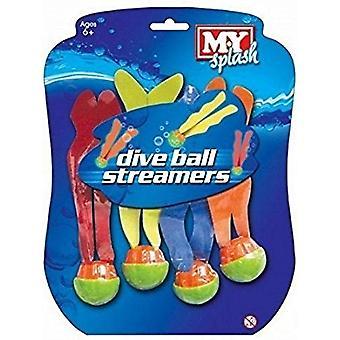 M.Y Splash Dive Ball Streamers - Pack of 4
