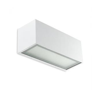 Lia Aplique De Aluminio Blanco Y Vidrio