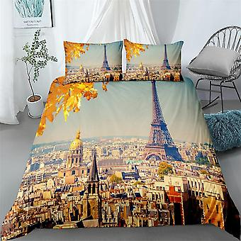 Dubai City Digital Duvet Cover Set - Single, Twin, Double, Queen, King Size Bed