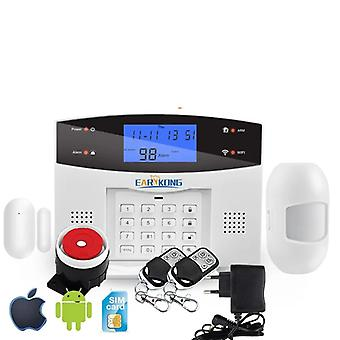 Wifi Gsm Home Burglar Alarm System 433mhz Detector