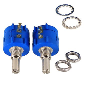 2x 3590S-2-103L Rotary Wirewound Precision Potentiometers Réglable Resistor