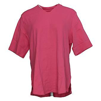 Isaac Mizrahi En direct! Femme Top V-Neck Elbow Sleeve Tunic Pink A299522