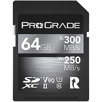 SD UHS-II 64 GB Karte V90 - Bis zu 250MB/s Schreibgeschwindigkeit und 300MB/s Lesegeschwindigkeit |