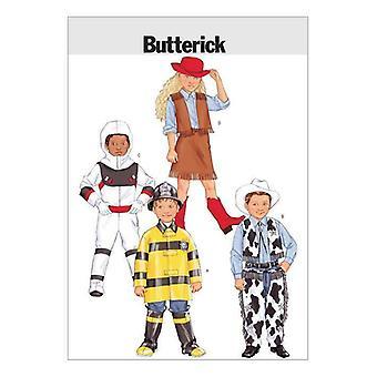 Butterick نمط الخياطة 3244 الأطفال الأولاد الفتيات الاطفاء زي 2-5 UC