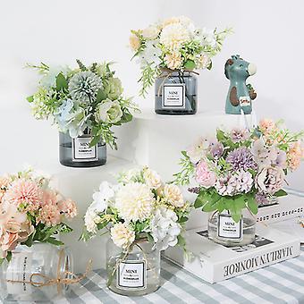 Fleur artificielle moderne fleur colorée hydrangea rose photographie de maison décoration handhold fleurs