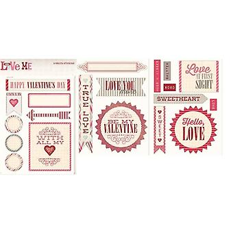 My Minds Eye - Love Me Sticker Sheets Labels