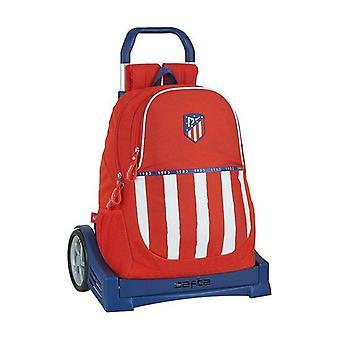 School Rucksack with Wheels Evolution Atlético Madrid 20/21 Blue White Red