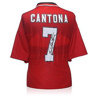Eric Cantona Firmato 1996 Maglia Manchester United