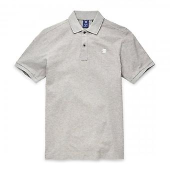 G-Star Dunda Slim Fit Polo T-Shirt Grey Marl D11595